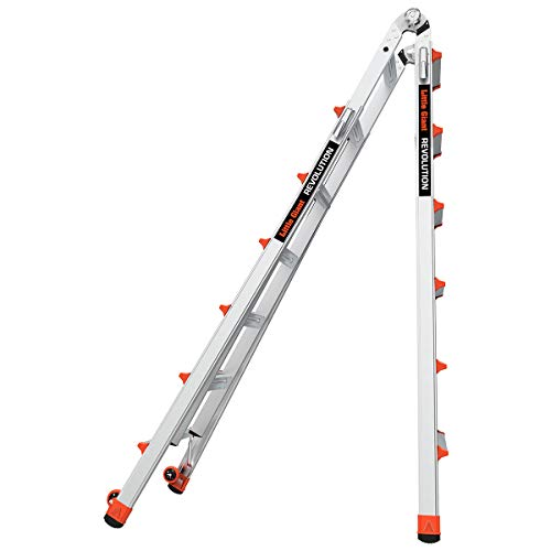 Little Giant Ladders, Revolution, M26, 26 ft, Multi-Position Ladder, Aluminum, Type 1A, 300 lbs weight rating (12026)