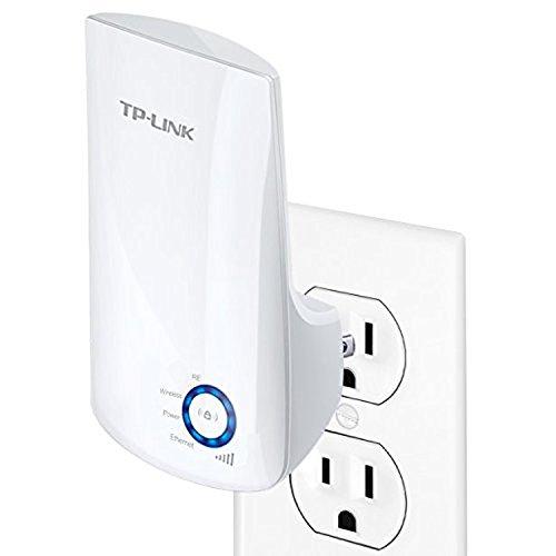 TP-LINK TL-WA850RE Repetidor de Wifi Extensor de Cobertura Inalámbrico Universal, 300Mbps, Enchufe de Pared, Tipo Plug and Play, Puerto Ethernet, Luz...
