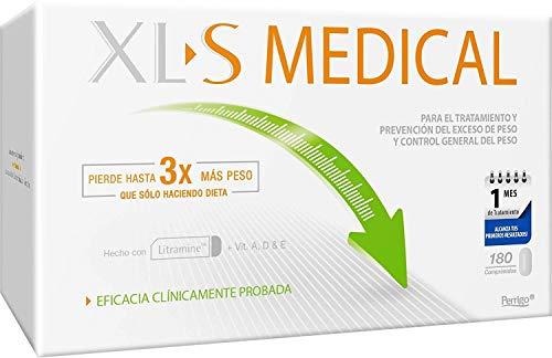XLS Medical Captagrasas para Perder Peso, Capta 28% de la Grasa Ingerida (1), Comprimidos para Adelgazar, 1 Mes de Tratamiento, 180 comprimidos
