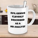 N\A aza del Analista de recursos Humanos Taza de café Regalos para Evil Genius Gerente de recursos Humanos de recursos Humanos Oficina de recursos Humanos