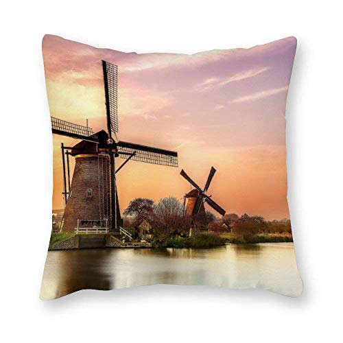 shenguang Canvas Square Throw Pillow Cases Cushion Covers for Bed Sofa Couch Car, Elephant
