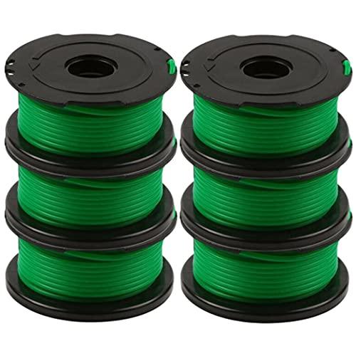 Odashen Lot de 6 bobines de fil pour débroussailleuse Black and Decker GL7033, GL8033, GL9035 6 m