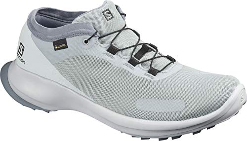 Salomon Herren Trail Running Schuhe, SENSE FEEL GTX, Farbe: grau (Quarry/Pearl Blue/Flint Stone) Größe: EU 46
