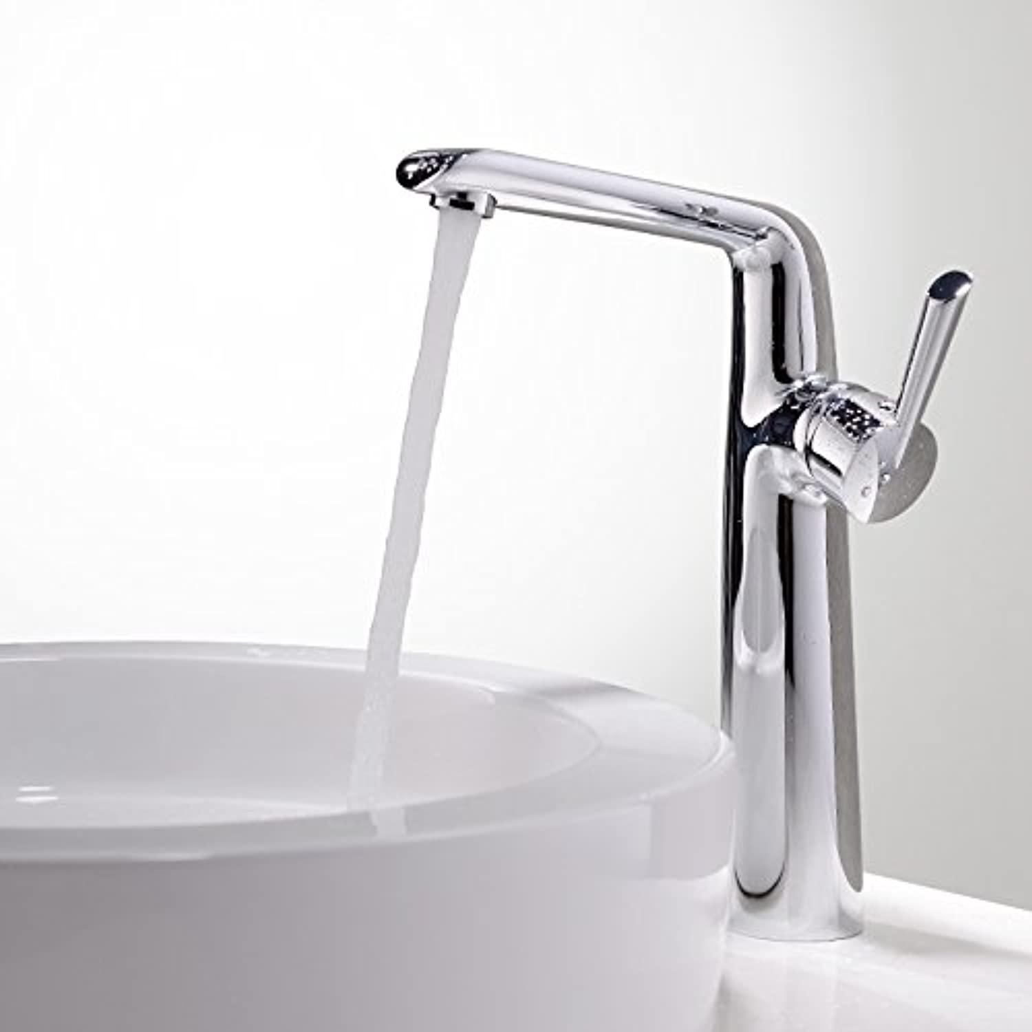ETERNAL QUALITY Bathroom Sink Basin Tap Brass Mixer Tap Washroom Mixer Faucet White Silver side center console basin basin basin full copper faucet single hole cold and h