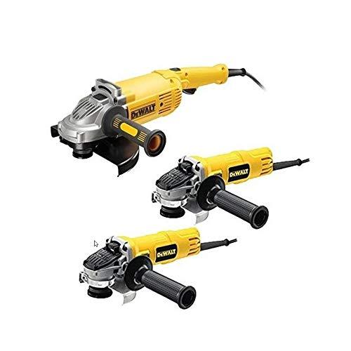 DeWalt CPROF592 CPROF592-KIT Amoladoras = DWE490 230mm 2.000W + DWE4157 125mm 900W DWE4016 115mm 7300W Suave, Bloqueo y re-Arranque