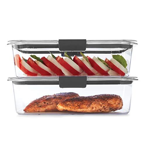 Conjunto de armazenamento de alimentos Rubbermaid 2108398 à prova de vazamento | Recipientes de plástico de 1,3 xícaras com tampas | Seguro para micro-ondas e lava-louças, Pacote econômico