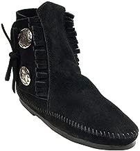Minnetonka Women's Two Button Boot,Black,7.5 M US