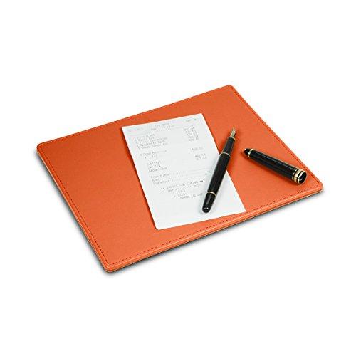 Lucrin - Vade de sobremesa para escritura, piel de becerro, 200 x 170 mm, color naranja