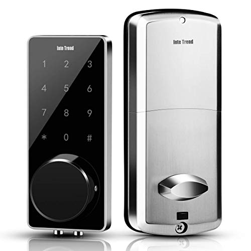 [Newest] Smart Lock, InteTrend Bluetooth Enabled Electronic Deadbolt with Touchscreen - Keyless...