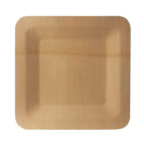 Papstar 88038 - Platos de bambú (1,5 x 25,5 x 25,5 cm, 10 unidades)