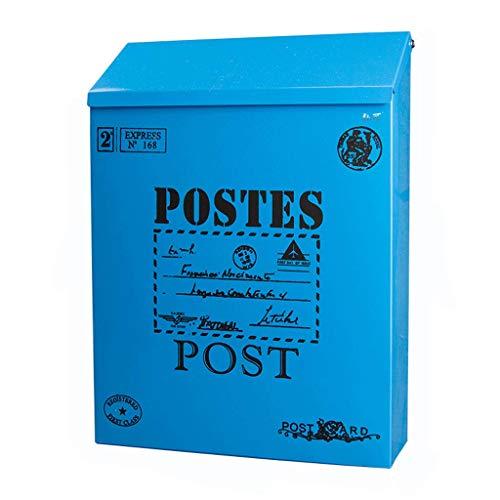 Mailbox blikken koffer outdoor waterdichte pastelorale opkijkbox creatieve blokkering muur kleine schilderkunst opkijkbox