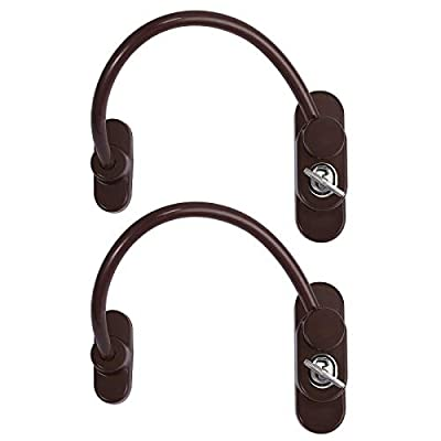 Kamtop Window Restrictor Locks Security Cable for Child Baby Safety Window Locks Door Locks with Screws Keys
