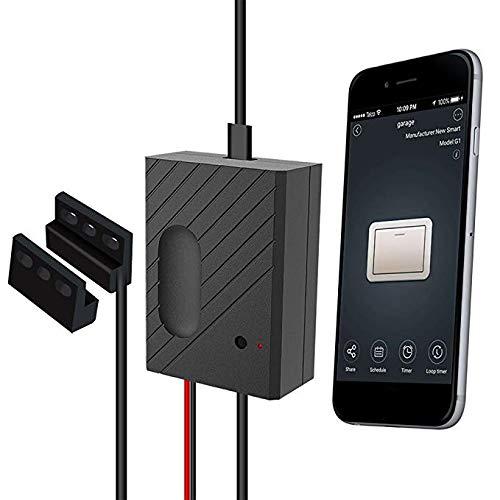 Controlador de Puerta de Garaje WiFi Funciona con Alexa/Google Home/App/IFTTT, Controle la Puerta de su Garaje Desde Cualquier Parte del Mundo Tuya App