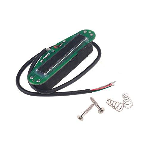 Musiclily Humbucker en Formato de Bobina Simple Pastilla Hot Rails para Guitarras Eléctricas Estilo ST,Cuerpo Negro con Rail Cromo