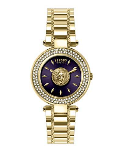 Versus by Versace VSP642618 Brick Lane Crystal - Orologio al quarzo da donna, colore: Viola
