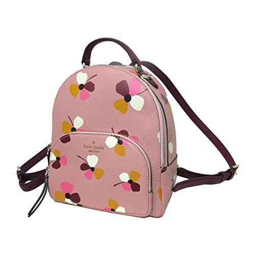 ケイト・スペード kate spade ショルダーバッグ WKRU6376-673 レザー フラワー プリント ミディアム バックパック/リュック medium backpack/jackson dusk buds/pink multi(673)【アウトレット】 [並行輸入品]