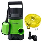 Pro-Kleen 750w Submersible Electric Water Pump with Heavy Duty 5m Hose for Clean or Dirty Water with Float Switch - for Floods, Pools, Gardens, Wells, Ponds & More