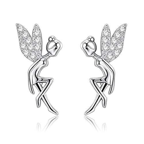 QY-Youth Elegantes de Oreja de Duende Artesanía de ala de Perla para Disfraz Pendientes de Envolver de Puño Cosplay, Boda