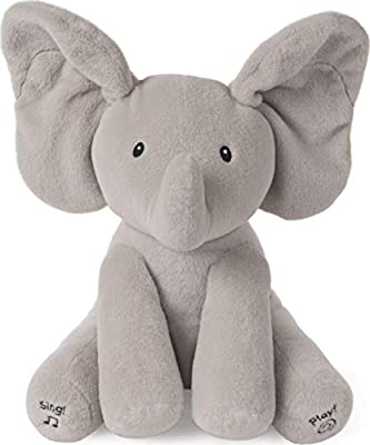 """Baby GUND Animated Flappy The Elephant Stuffed Animal Baby Toy Plush, Gray, 12"""" from Spin Master"""