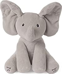 FLAPPY THE ELEPHANT: Animated plush Flappy the Elephant by Baby GUND is an adorable singing animated plush with two different play modes. Press the left foot to play an interactive game of peek-a-boo, and the right to hear the song Do Your Ears Hang ...