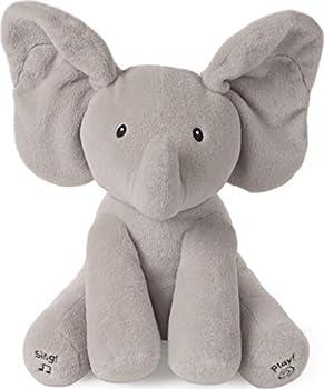 GUND Baby Animated Flappy The Elephant Stuffed Animal Plush Gray 12