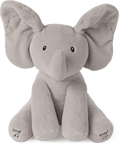 Baby GUND Animated Flappy The Elephant Stuffed Animal Baby Toy Plush, Gray, 12""