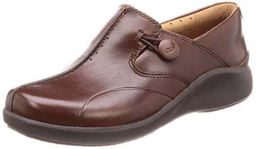 Clarks Damen Un.Loop2 Walk Slipper, Braun (Dark Tan Lea Dark Tan Lea), 42 EU