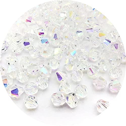 DYKJK Cuentas de cristal brillantes de 4/6/8 mm para hacer joyas, cuentas espaciadoras sueltas para hacer joyerías, pulseras y pulseras de bricolaje (color : J, diámetro del artículo: 8 mm)