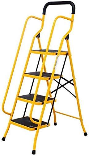 JLDN Escalerilla, 4 Peldaños Escalera Plegable con Segurida
