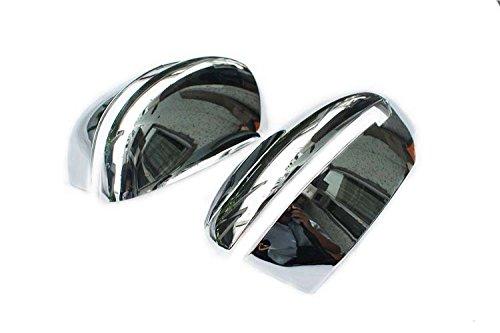 Garniture de miroir de rétroviseur intérieur de chrome d'ABS 2pcs pour l'accessoire de voiture NSQQ