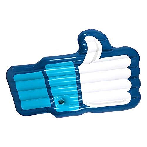 YOUZHA Air Mattresses Giant Thumb Up Opblaasbare Air Mattress Zwembad Float Palm Vorm Drijvende Mat Strand Zwembad Bed Zwembad Speelgoed voor Volwassenen Kinderen