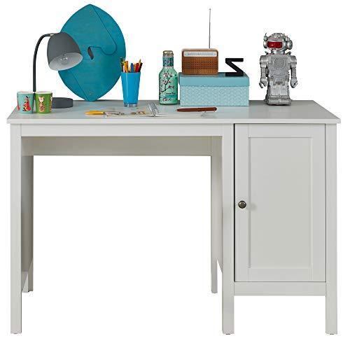 trendteam smart living Jugendzimmer_Kinderzimmer Schreibtisch Tisch Arbeitstisch Ole, 115 x 75 x 50 cm in Weiß mit viel Stauraum und großer Arbeitsfläche