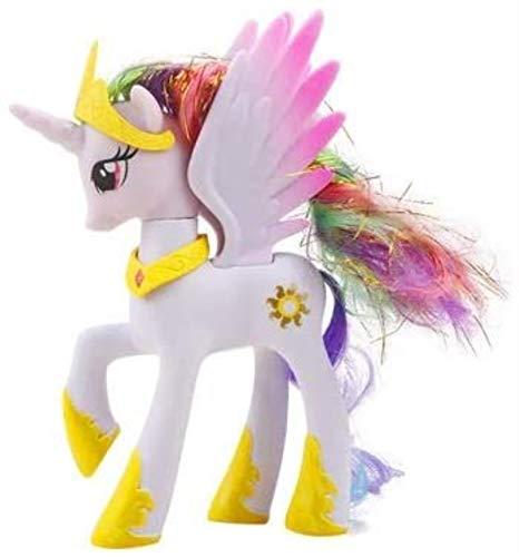 DINEGG Einhorn Makeup Prinzessin Pferd PVC Action Spielzeug Figuren Kinder Spielzeug 14 cm hoch (Farbe: Prinzessin Cadance) YMMSTORY (Color : Princess Celestia)