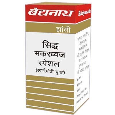 Baidyanath Jhansi Siddha Makardhwaj, Swarna Moti Amber Yukta, 10 Tablets