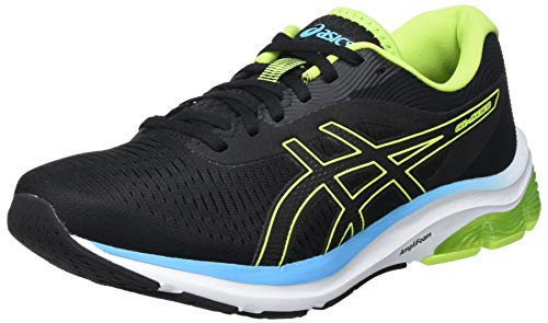 Asics Gel-Pulse 12, Road Running Shoe Hombre, Black/Hazard Green, 42 EU