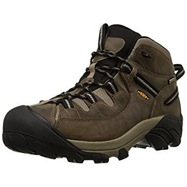 KEEN Men's Targhee II Mid Waterproof Hiking Boot,Shitake/Brindle,13 M US