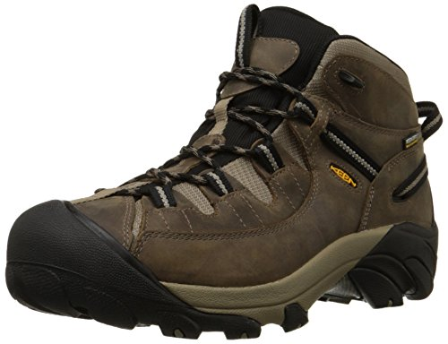 KEEN Men's Targhee II Mid WP Hiking Boot,Shitake/Brindle,15 M US