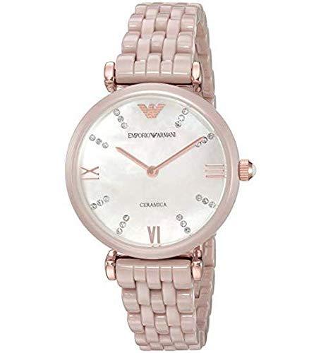 Emporio Armani Reloj Analógico para Mujer de Cuarzo con Correa en Acero Inoxidable 4053858564039