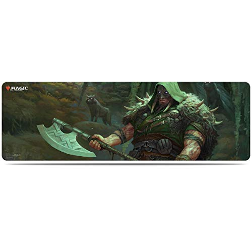 Ultra Pro Printed Art Magic The Gathering Card Game 8 Foot Table Mat MTG Throne of Eldraine V3 Garruk Cursed Huntsman