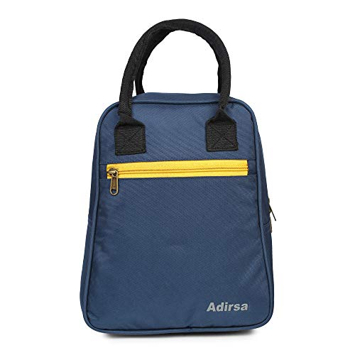 ADIRSA LB3012 Navy Blue Insulated Lunch Bag / Tiffin Bag for Men, Women, Kids, School, Picnic,Work Carry Bag for Lunch Box
