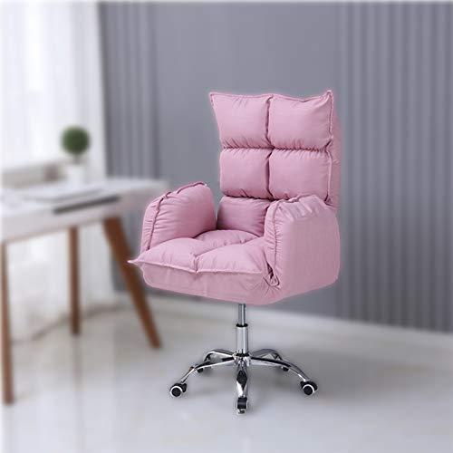 Nylon feet Silla de computadora simple, ergonómica, silla giratoria a domicilio, silla de juego, silla de oficina, plástico, juegos, silla de juego, silla de juego giratoria, ajuste de altura, respald