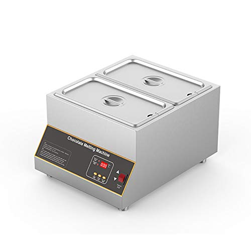 F-JX Dry-Burning Chocolate Heating Melting Machine, Hot Air Circulation Melting Pot, No Need to Add Water,Double Cylinder