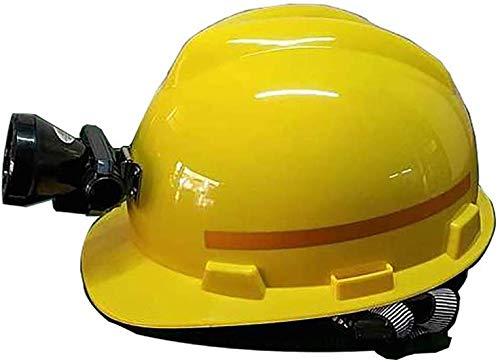Casco de faro, Casco reflectante, Casco de trabajo, Casco ajustable Casco de construcción con cincha de 4 puntos