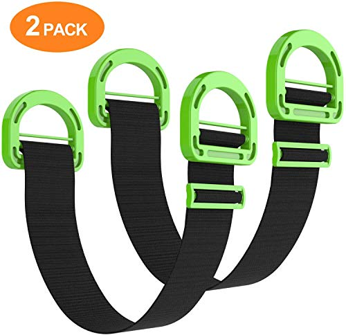 Adjustable Lifting Moving Straps - Furniture Moving Straps for Furniture, Boxes, Mattress, Construction Materials, and Heavy (2 Pack)