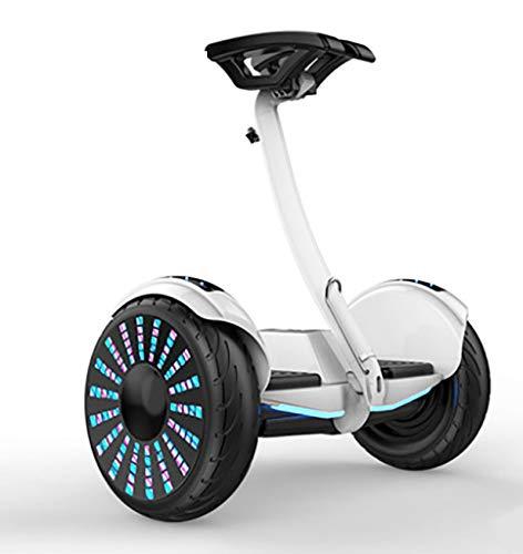 Hoverboard Patinete Ruedas LED Luces Scooter eléctrico con Bluetooth - Patinete Eléctrico 700W Regalo para Niños Adolescentes y Adulto,White,36v