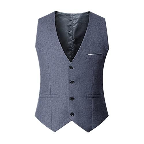 Chaleco de traje casual de color sólido de los hombres