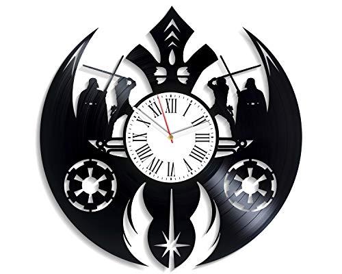 Star Wars Wall Clock Boba Fett Vinyl Record Wall Clock Handmade Wall Clock Gift for Him Gift for Her