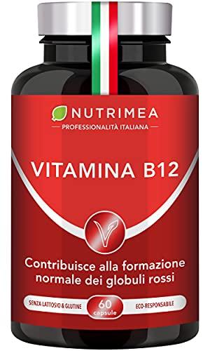 VITAMINA B12 Vegan 1000 mcg   Integratore Vegan   Cianocobalamina Unica Vitamina B12 Al 100% Vegana   60 Capsule Di Origine Vegetale