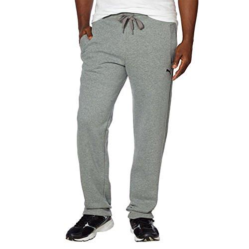 PUMA Men's Fleece Pant, (Small, Light Grey)