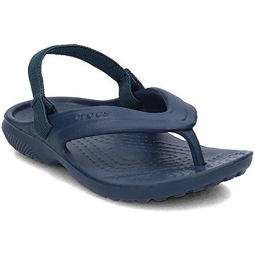 Crocs Kids' Classic Flip Flops | Sandals for Kids, Navy, 10 Toddler